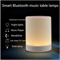 audio decor - Smart Wireless Bluetooth Speaker Stereo Touch Sensor Bedside Table Lamp Decor LED Dimmable Night Light Portable Music Player