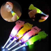 Wholesale Pocket LED Light Ear Cleaner Illuminated Flashlight Earpick Wax Cleaner Remover Cleanser Ear Pick