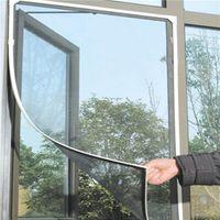 Útil sencilla DIY del insecto de la mosca del mosquito del insecto ventana de la puerta del acoplamiento neto cortina protector de la pantalla Negro Todo Hogar a estrenar