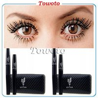 Cheap MASCARA 3D Waterproof FIBER LASHES MASCARA Makeup lash eyelash 5103 5223 5035 5260 5864 double mascara with sealed retail box & logos