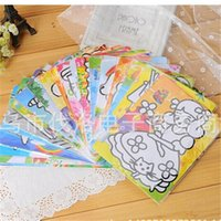 adhesive sand paper - 10pcs New arrive Large colorful bottom sand painting children s educational toys Handmade DIY adhesive stickers