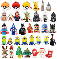 animal usb flash memory stick - USB Flash Memory Stick Pen Drives Cartoon Star Wars BB8 Pokerball Minions Christmas Xmas Gift Cute Animal Promotional Gift Designs