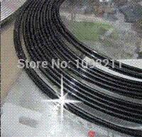 Wholesale 14M quot U quot STYLE Black CHROME TRIM Car Door Edge Guard Molding Trim Protectors DIY Strip bumper bmw