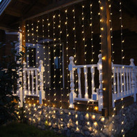 Wholesale Led curtain icicle christmas string light led for wedding home garden outdoor wall party window decoration
