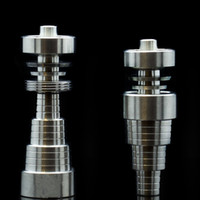 Wholesale 6 in Titanium Nail mm mm Male Female Domeless Titanium Nail Highly Educated Ti Nails Carb Cap For Smoking Factory Directly Selling