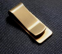 Wholesale High quality brand stainless Steel metal money clip durable titanium steel clip for money dollar cash clip new clamp for money