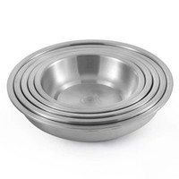 Wholesale 304 thick stainless steel plate deep dish dish soup disc sanding disc size optional
