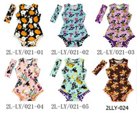 autumn ghost - 08 DHL Free Bulk Halloween romper with pumpkins and ghost Turkey Thanksgiving boutique outfits