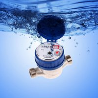 Wholesale Garden Home mm quot Cold Water Meter With Free Fittings for Garden Home Kitchen Bathroom E5M1 order lt no track