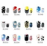 Wholesale Korea natural nail sticker full nail stickers affixed to children of pregnant women polish stickers nail sticker B series DHL