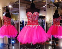 art shorts - 2017 Glamorous Sweet A Line Short Mini Beaded Homecoming Dresses Sweetheart Knee Length Zipper Back Prom Cocktail Gowns