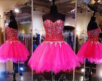 arts zipper - 2017 Glamorous Sweet A Line Short Mini Beaded Homecoming Dresses Sweetheart Knee Length Zipper Back Prom Cocktail Gowns
