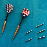 Wholesale Dart Needle Professional Custom Professional Sports Darts with National Flag Leaves Safety Durable Anti throw Manufacturer Selling