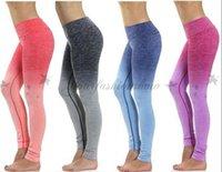 al por mayor high waist pants-Nuevas polainas del yoga para los deportes de la ropa del gimnasio de la cintura de las mujeres altas que adelgazan la ropa corriente M156 del aptitud del deporte del entrenamiento del entrenamiento de los pantalones