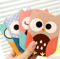 Wholesale Paper Cute Caderno Planner Novelty Owl Cartoon Animals Mini Notebook Pocket Gift Stationery K7576