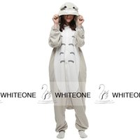 onesies - Kawaii Totoro Anime Cosplay Halloween Costumes Winter Homewear Sleepwear for Teens Leisure Family Men Women Pajamas Jumpsuit Onesies Cheap