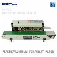 Wholesale FR Continuous film sealing machine plastic bag package machine band sealer horizontal vertical heating sealing machine V Hz