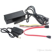 Wholesale High Speed USB to IDE SATA Hard Drive Converter Cable with Power Adapter Data Cable