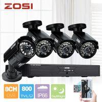Wholesale ZOSI h surveillance camera systems H CCTV Channel DVR Security Cameras TVL Home IR Cut Bullet Camera