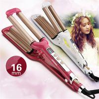 aluminum tube weights - Three Tubes Egg Roll Electric Hair Brush Digital Temperature Control Hair Curler Female Hot Design Curling Iron