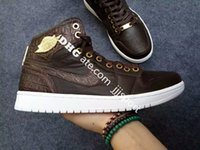 baroque shoes - Air Jordan Pinnacle Baroque Brown Gold Jordans I Original Quality With Original Box Mens Basketball Shoes Size US8 US12