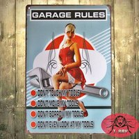 Wholesale GARAGE RUTLES METAL SIGN Retro Wall ART Vintage Craft GIft Pub Decor H Mix order CM