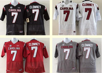 Wholesale Men s Women Youth Kids South Carolina Gamecocks Personalized Customized College jerseys White Red Black Grey Top Quality Drop Shipping