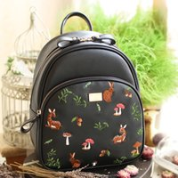 Wholesale NIU ENSSO original embroidery College Style PU shoulder bag leisure backpack schoolbag