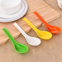 Wholesale Household plastic spoon Long handle with spoons tablespoons of tableware multi colored tableware Kitchen