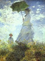 art claude - Lady in Landscape Woman with a Parasol Claude Monet Pure Handicrafts Art oil painting On High Quality Canvas in custom sizes