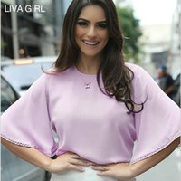 Wholesale 2016 Summer New European Women s Blouses Flounced Sleeves Horn Sleeve Lace Chiffon Shirt