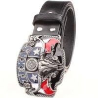 american west leather - Wild west cowboy personality Men s belt metal buckle bull head American Texas western cowboy style belts trend belt for men gift