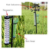 Wholesale Garden Thermometer Rain Gauge Wind Indicator Outdoor Atmospherium Your Best Choice Perfect Gift For Your Friends