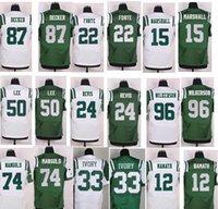 Wholesale 100 Stitched Men s NY Jets Matt Forte Eric Decker Darron Lee Brandon Marshall Chris Ivory Nick Mangold Football Jerse