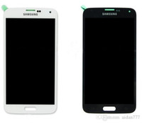 bar f - S5 LCD Screen LCD Assembly For Samsung Galaxy s5 i900A F H LCD Display Screen With Touch Screen Digitizer Assembly white and Black