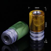 based medical - Derlin wide bore drip tip brass base medical mouthpiece for pipe several colors available low price OF