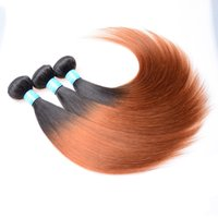 Cheap 50g Hot Selling Virgin Peruvian Hair 5pcs lot Two Tone Hair Weave Bundles Silky Straight Color1b 30# Wholesale Price Free Shipping