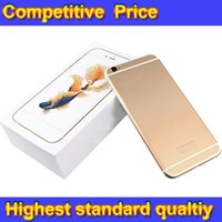 Wholesale Goophone i6s Plus Cell Phone MTK6582 Quad Core Inch Real GB RAM GB ROM Phone show GB i6s plus Unlocked Phone