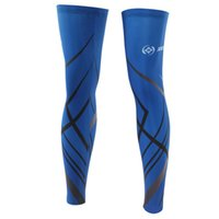 Wholesale Laser Blue cycling leg sleeve leg sleeve riding outdoor sun protection cycling leg sets