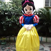 Wholesale Snow White Costume Mascot Fancy - New style snow white mascot costume Character Fancy Dress beautiful princess Cartoon costume party fancy dress