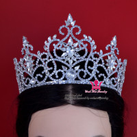 Wholesale Bridal Tiara Crown Wedding Rhinestone Jewelry Miss Beauty Pageant Winner Queen Princess tiara Party Prom Night Clup Show Hairddress Mo193