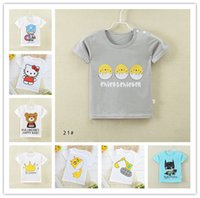 Wholesale 2016 New Hot Korean baby Tops Cotton Fashion Casual t Shirts For Children Crew Neck Cute Children t Shirts