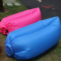 Wholesale Fast Inflatable Camping D KG Sofa Banana Sleeping Lazy Chair Bag Nylon Hangout Air Beach Bed Couch Outdoor Sleep High Quality DHL