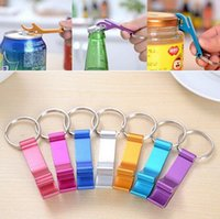 beer bottle opener ring small - 2016 New Pocket Key Chain Beer Bottle Opener Claw Bar Small Beverage Keychain Ring Random Color by DHL