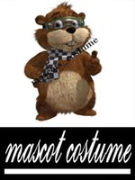 bear photos - Real Actual Photo Picture gopher bear Christmas Mascot Costume Adult Size Outfit Fancy Dress for Party