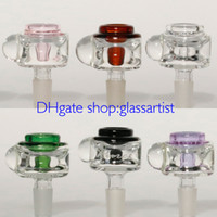 Wholesale new glass bowl Hi Q bowl mm male joint Six kinds of color glass bong accessories