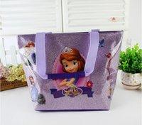 beach powder - Hot sale new frozen sophia Kim powder waterproof children s beach bag out door food package bag