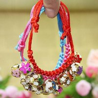 Wholesale Hand woven manual Hollow Paint bell collar cat laps dog pet collars supplies Products favors