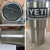 Wholesale YETI oz Cup Cooler YETI Rambler Tumbler For Travel Camping Vehicle Beer YETI Mug Tumblerful Bilayer Vacuum Insulated Stainless Steel
