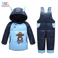 baby thermal wear - Kindstraum New Winter Baby Clothing Suits Children Coats Jumpsuits Thermal Down Wear Fashion Cartoon Outerwear RC819